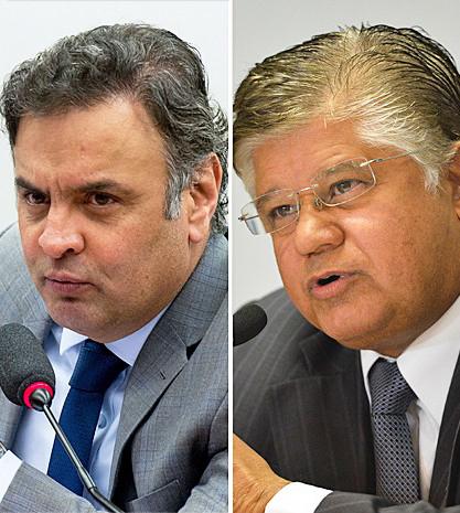 Aécio Neves e Clésio Andrade