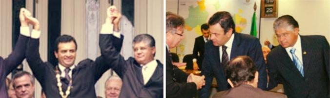 Clésio Andrade e Aécio Neves
